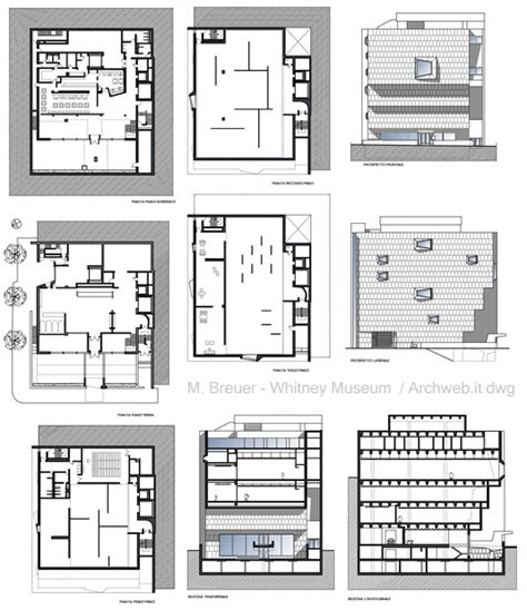 Whitney Museum Floor Plan by M Breuer Whitney Museum Dwg