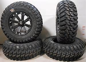 polaris ranger tires msa black kore 14 atv wheels 28 kanati mongrel tires