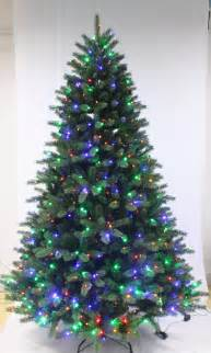 5ft ultra devonshire fir pre lit with multicoloured leds