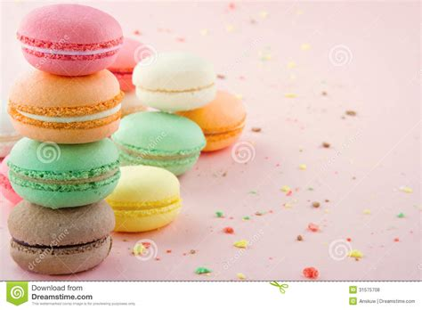 colorful macaroons wallpaper colorful macaroons on pink background royalty free stock