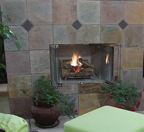 superior 36 inch stainless steel outdoor fireplace