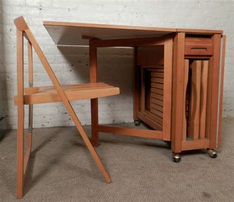table with chairs that store inside mid century modern drop leaf table with chairs at 1stdibs