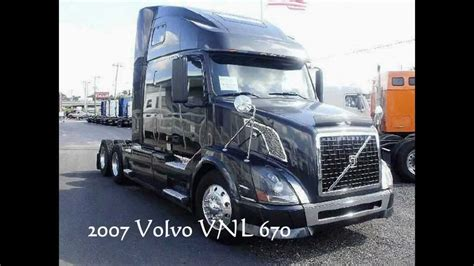 Volvo Trucks For Sale 2007 Vnl 670 465hp Florida Truck