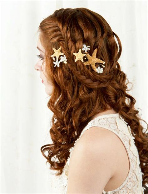starfish hair accessories by hair comes the bride starfish hair accessories starfish hair clip seashell