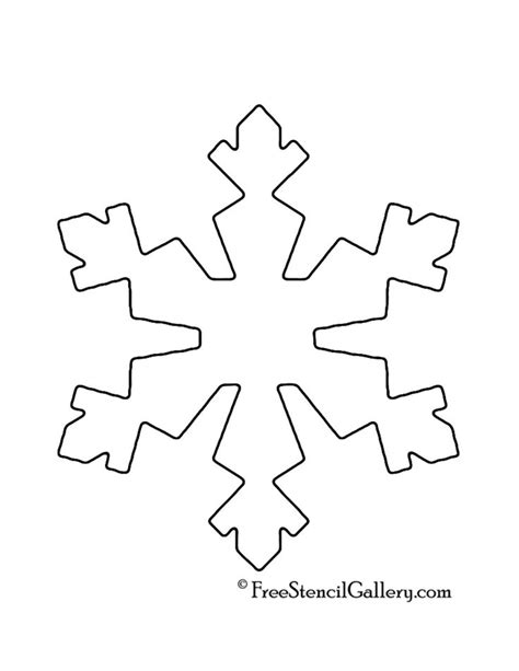 25  best ideas about Snowflake stencil on Pinterest