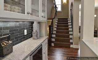 black slate subway backsplash tile idea backsplash