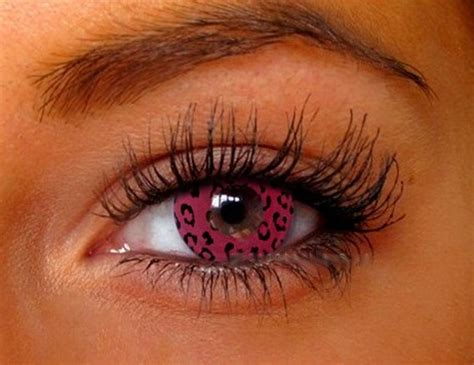 geo animation pink leopard contact lens sf 64 | contacts cow