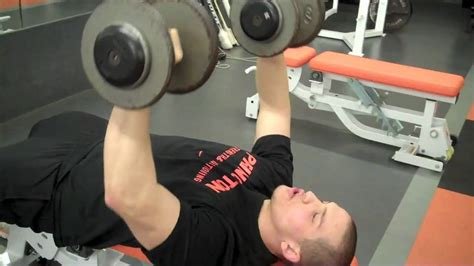 perfect incline bench press dumbbell chest press technique doovi