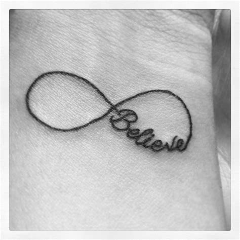 tattoo infinity believe 17 best images about infinity on pinterest infinity love