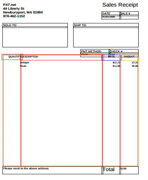 w3 template blank sales receipt sle 7 exles in word pdf