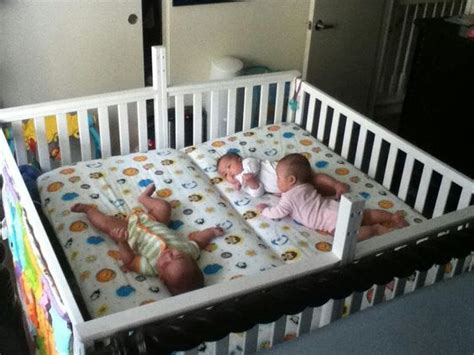In Same Crib two cribs screwed together to make a crib baby