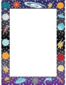 lined paper with space border informal page borders
