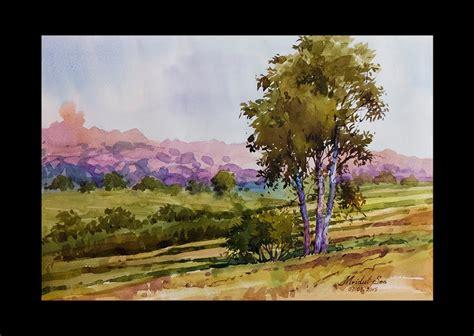 Tutorial Watercolor Landscape | watercolor landscape tutorial how to paint a watercolor