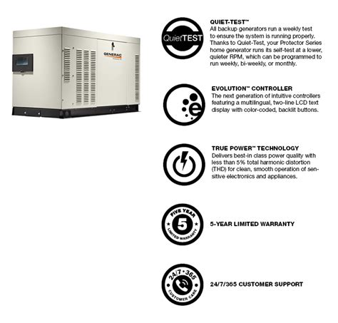generac 27 000 watt liquid cooled standby generator with