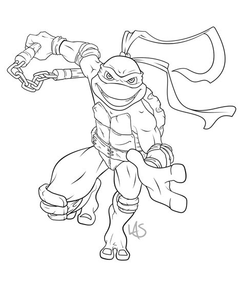 Michael Angelo Free Coloring Pages Michelangelo Coloring Pages