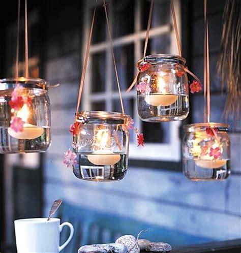 kronleuchter teelichter mit kerzen dekorieren g 228 rten gl 228 ser und kreativ