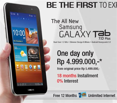 Samsung Tab 4 Di Jakarta samsung indonesia launching galaxy tab 7 0 plus tomorrow sammy hub