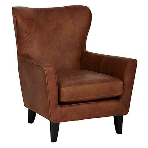 buy lewis semi aniline leather armchair
