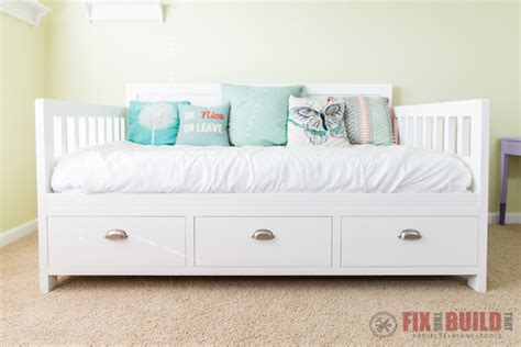 twin size bed with storage diy daybed with storage drawers twin size bed