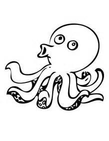 octopus color octopus coloring and squid stingray coloring pages big