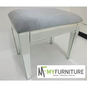 mirrored stool for dressing table or console