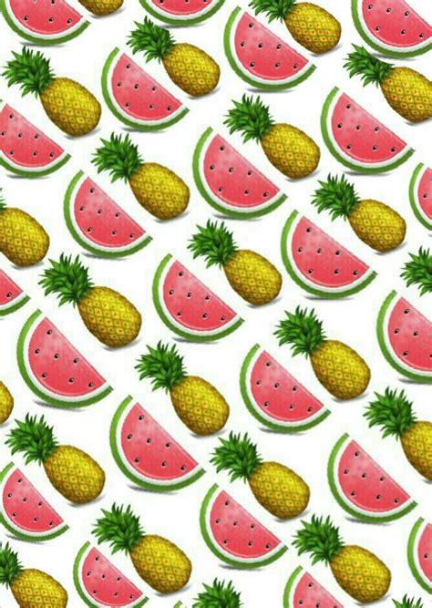 emoji pineapple wallpaper watermelon and pineapple emoji background by amelie whi