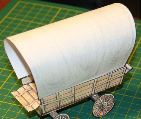 How To Make A Paper Wagon - inkjet paper scissors the covered wagon