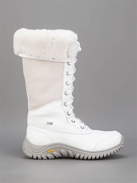 uggs winter boots ugg adirondack snow boot in white lyst