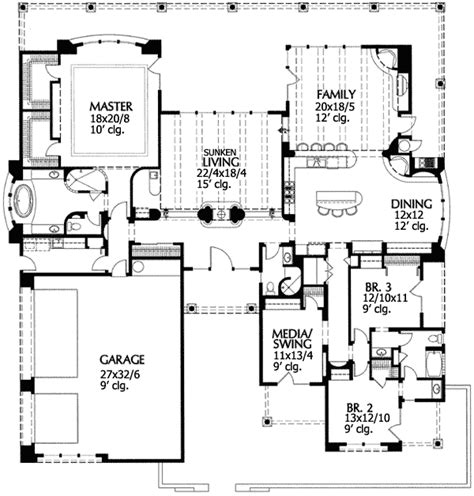 house plans with sunken living room beautiful sunken living room 16344md 1st floor master suite adobe cad available