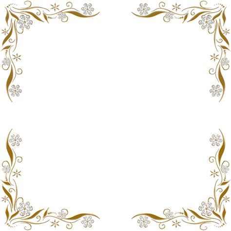 frame design pinterest golden floral corners frame 2 by paw prints designs on
