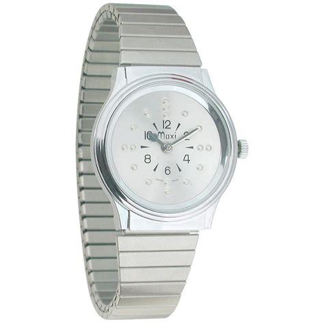 chrome quartz maxiaids mens chrome quartz braille watch with chrome