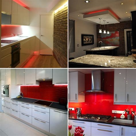 red under cabinet kitchen lighting plasma tv led strip sets