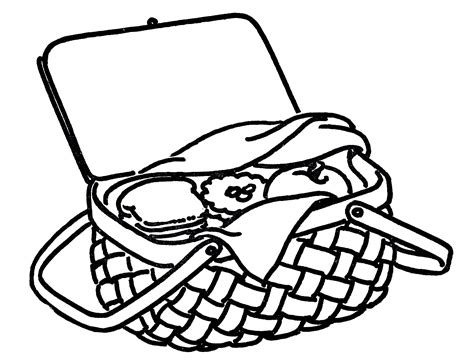 Free Coloring Pages Of Picnic Picnic Coloring Page
