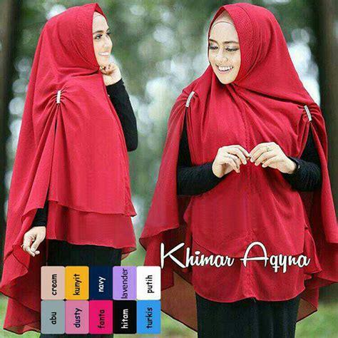 Jilbab Khimar Putih jilbab syar i khimar aqyna terbaru 2018 simple modis bundaku net