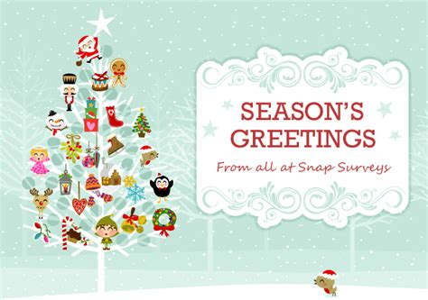 email xmas cards uk holiday greetings from snap surveys