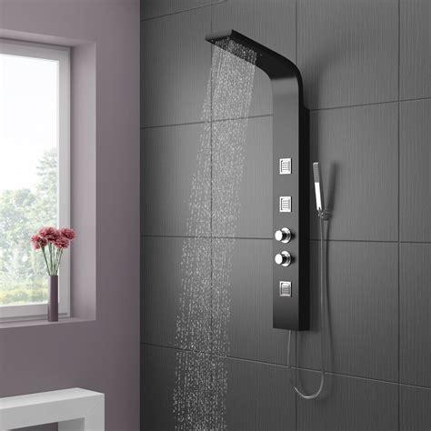 Cloakroom Bathroom Ideas maverick thermostatic shower panel black victorian