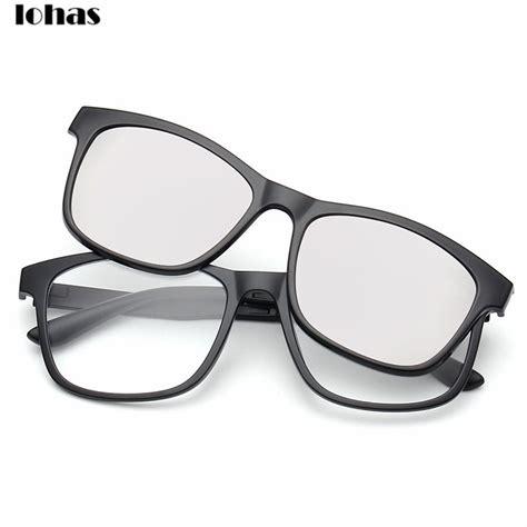 prescription eyeglasses with clip on sunglasses
