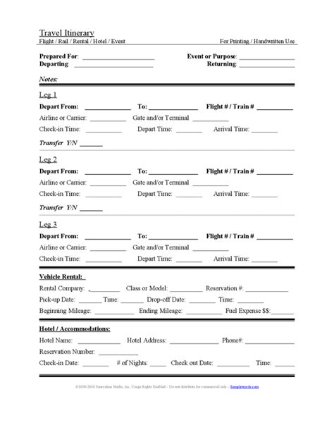 Travel Itinerary Template Beepmunk Itinerary Template Word