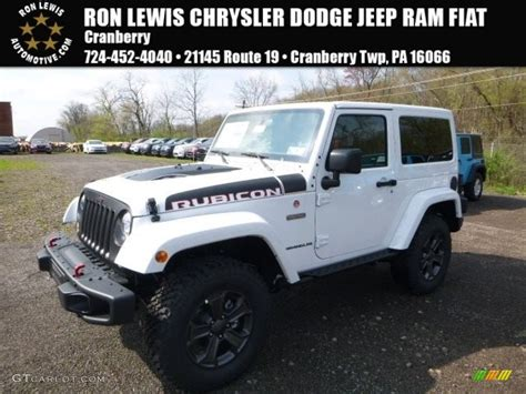 white jeep 2017 2017 bright white jeep wrangler rubicon recon edition 4x4