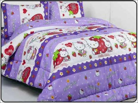 Sprei Home Made Set Bc 160 borneo butik motif hello ungu