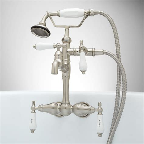 bathtub faucets with handheld shower tub wall mount faucet and hand shower kit bathroom