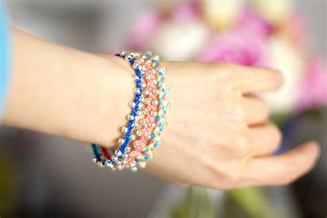 diy braided bead bracelet crashingred diy braided bracelet with crashingred