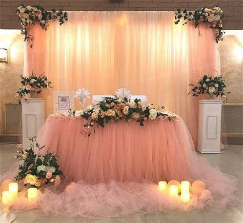 Handmade Backdrops - diy wedding decoration ideas that would make your big day