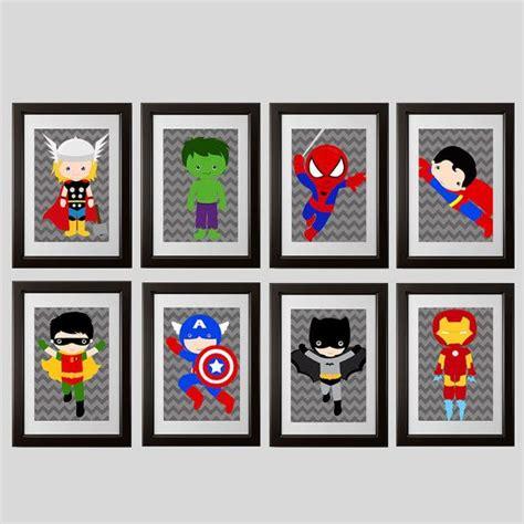 printable heroes download superhero prints instant download digital printable