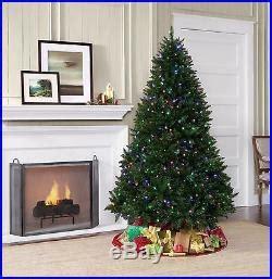 Led 7 Color Light Pine Tree With Sensor showtime 7 laramie pine tree 500 led dual color lights new decor