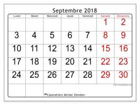 Calendrier 2018 Septembre Calendriers Septembre 2018 Ld