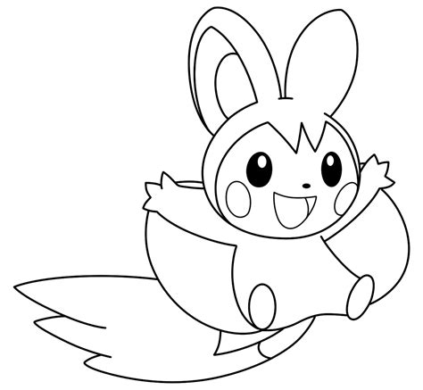 pokemon coloring pages emolga how to draw pokemon emolga