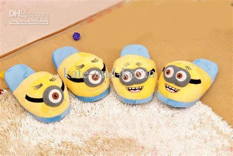 minion house slippers discount novelty despicable me minions minion plush stuffed slippers adult home house