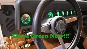 green led dash light conversion on 1988 jeep wrangler yj