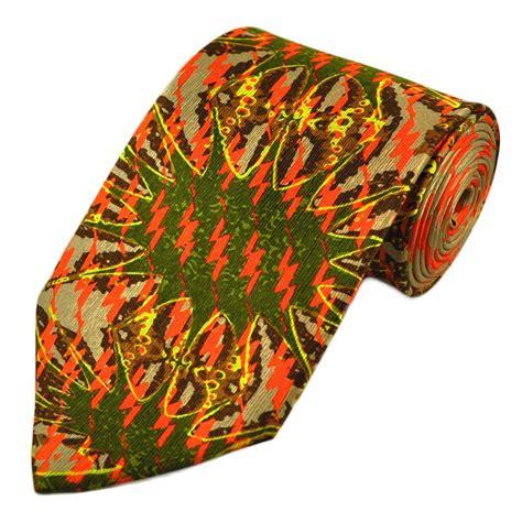 orange patterned ties copper orange green patterned silk tie from ties planet uk